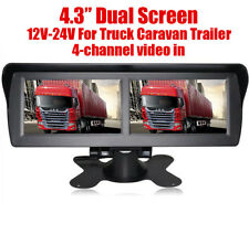 """4.3"""" Car Rear View Monitor Dual Screen Supports 2 Camera Display for Car Truck"""