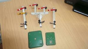 AQ448: Hornby O Gauge Junction Double / Single Arm Signals for Spares