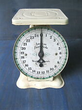 Antique Scale Kitchen AMERICAN FAMILY, Old Original Cream/Yellow Paint, 25 Lbs
