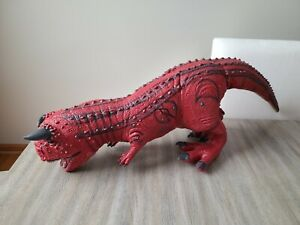 Disney's Animal Kingdom Carnotaurus Dinosaur Dinoland Rubber Toy 12""