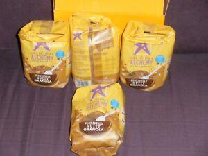4 x packets of Delicious Alchemy Granola 312g each.Gluten & Dairy free.No GMO..A