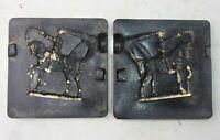 Antique Vintage Rubber Mold Lead Toy Soldier Riding Horse