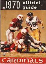 ST LOUIS CARDINALS NFL 1970 TEAM MEDIA GUIDE BEAUTIFUL CONDITION RARE VINTAGE