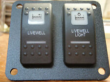 BAITWELL LIVEWELL PANEL PUMP LIGHT BOAT SWITCHES PSC21BK ESA2WHT V1D1G66B SWITCH