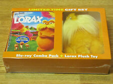 DR. SEUSS' THE LORAX BLU RAY + DVD + PLUSH TOY LIMITED GIFT SET 2-DISC BRAND NEW