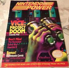 Vintage NINTENDO POWER Magazine Issue Vol. #24 Vice: Project Doom NES