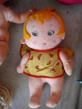"""Vintage 1972 Knickerbocker Cloth Pebbles Flintstone Girl Doll 12"""" Tall"""