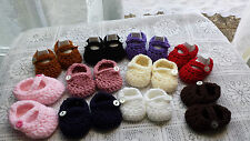 HAND CROCHET/KNITTED BABY SHOES/BOOTIES-IN SIZES-MARY JANE STYLE