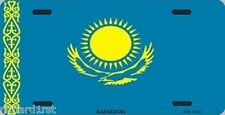 "Aluminum National Flag Kazakstan ""License Plate"" NEW"