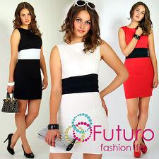 Elegance & Stylish Cocktail Dress Sleeveless Tunic Office Size 8-16 FK1112