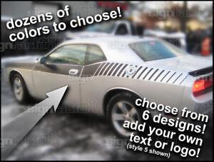 Side Strobe Stripes - FITS Dodge Challenger RT SRT SRT8 2009 and up 2015 2020