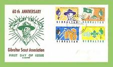 Gibraltar 1968 60th Anniversary of Scout Association set on (C.George) FDC
