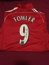 Robbie Fowler Liverpool FC 9 Camiseta Firmada a Mano