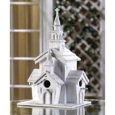 "Little White Chapel Birdhouse - 12 3/4"" High - Wood - White"