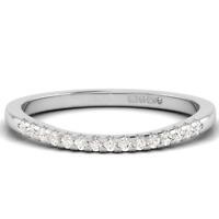 0.15ct Round Brilliant Cut Diamonds Half Eternity Wedding Ring in 9K Gold