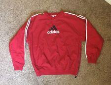 Vintage Adidas Maroon Windbreaker Pullover Jacket Originals 3 Stripes Spellout L