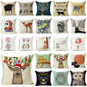 "18"" Cartoon Animal Cotton Linen Throw Pillow Case Sofa Cushion Cover Home Decor"