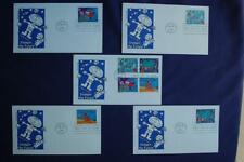 Stampin' the Future Child Designed Stamps 5 FDCs Artmaster Sc#3414-3417 12936