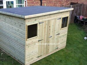 shed pent garden outdoor workshop tool store heavy duty tanalised bike store t&g