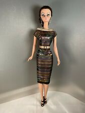 Silkstone Barbie Classic 50's Style 100% Silk Dress & Buckle Belt by Solveig