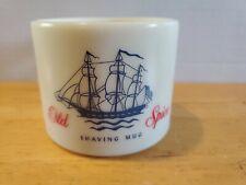Vintage Early American Old Spice Shaving Mug Cup Custard Glass Shulton  N.J.