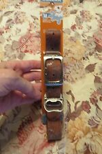 NEW, MUCK DOGGIE COLLAR, BROWN WOODGRAIN DESIGN COLLAR, WATERPROOF & MORE SZ M