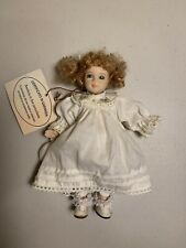 Vintage Bambola All porcelain Doll 7� Made In Italy With the Tag/Free Ships #304