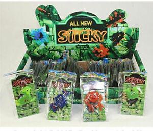 12x Sticky Figuren Schleim Glibber Klebe Monster Schleimfiguren Mitgebsel 5cm