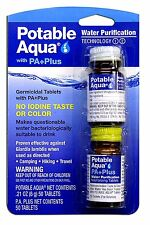 Potable Aqua Water Purification Tablets with PA Plus - For Camping and Emergency