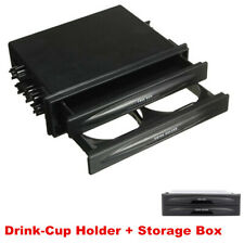 Double 2Din Dash Radio Installation Pocket Cup Holder Storage Box For Car SUV