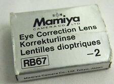 (PRL) MAMIYA RB67 RB KORREKTURLINSE RANGEFINDER LENTE CORREZIONE -2 LENTILLE EYE