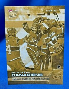 Montreal Canadiens 2021 NHL Topps NOW Gold Sticker #212G PR ~48!