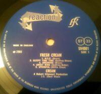 CREAM - FRESH CREAM LP / RARE UK 1ST PRESS STEREO REACTION 594 001 A1 B1 ESSEX