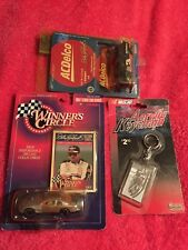 dale earnhardt sr 1997 Ac Delco And 1997 Hasbro Silver Car And Keychain.