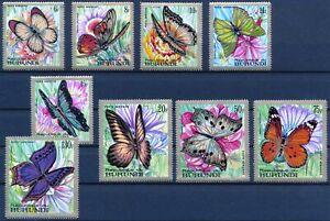 [P16009] Burundi 1968 : Butterflies - Good Set Very Fine MNH Airmail Stamps - $6