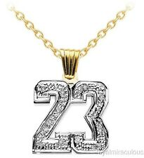 Personalized Diamond Number Plate Necklace  Yellow Gold Plated.