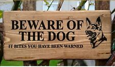 Beware Of The Dog Sign It Bites You've Been Warned Warning Security Sign Guard