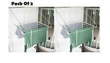 2 X Over Door Folding Airer Drying Rack Towel Rail Laundry Hanger Clothes Dryer