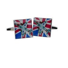 Harrier with Union Jack Design Cufflinks X2Bocs186