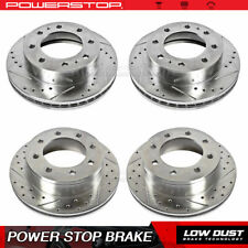 Front Rear Drilled Slotted Brake Rotors For 2001-10 Chevrolet Silverado 2500 HD