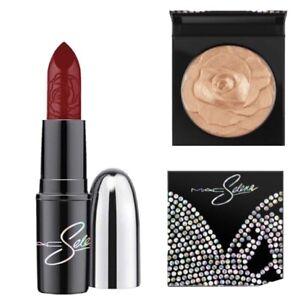 MAC Selena DUO La Leyenda SkinFinish Highlighter & Lipstick New in Box Full Size