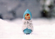 Warmly dressed CUTE DOLL ON WINTER DAY Modern Russian postcard