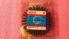 """NEW BOSCH WB558 STRINGER KNOTTED 4"""" CARBON STEEL WIRE WHEEL, 1/2"""" ARBOR"""