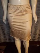 "Vintage Size Small Unbranded beige W/lace half slip Waist 24-40"" X length 24"""