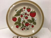 """Vintage Country Living Stoneware Strawberry Patch 11 3/4"""" Round Serving Tray"""