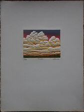 Roland DE LAFORCADE - Gravure eau-forte avec gaufrage signée numérotée etching