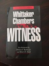 Witness by John Fox and Whittaker Chambers (1987, Paperback, Anniversary)