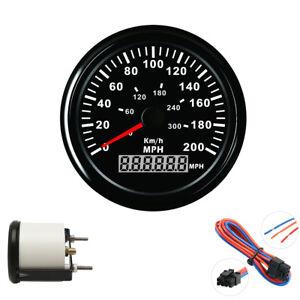 GPS Speedometer Gauge LCD Display Red Backlight Waterproof For ATV UTV Boat Car