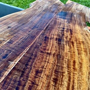 INSANELY RARE 5/16 x 10-20 x32 Flamed Hawaiian KOA 2 Pc Explorer top Curl Figure
