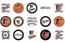 15 Pre-Cut Baltimore Orioles 1 Inch Bottle Cap Images